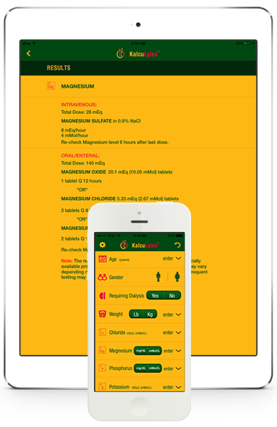 Kalculytes electrolyte repleacement calculator iPhone App